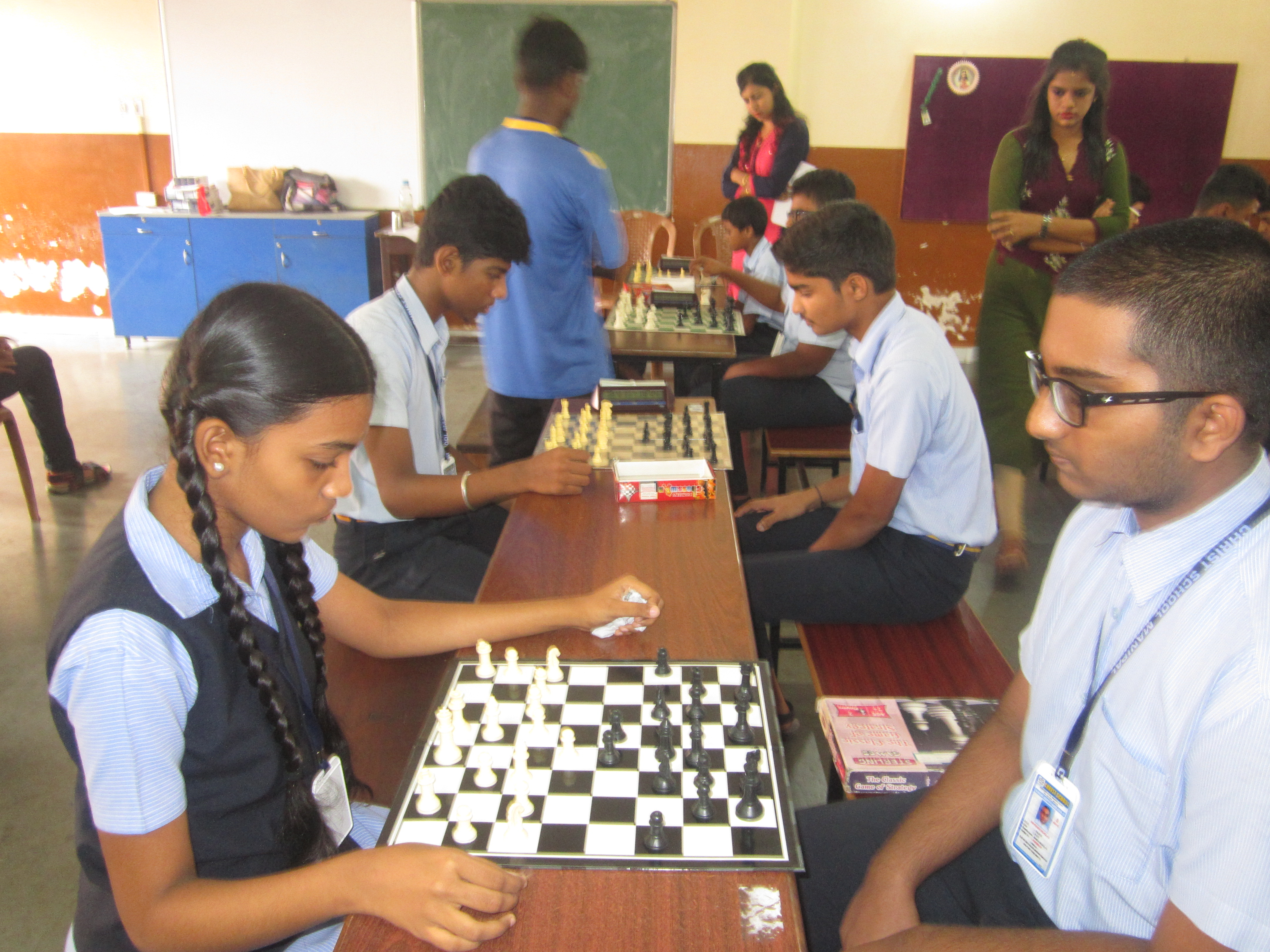 Inter House Chess competition for the year 2018-19